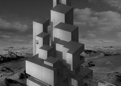 Philippe-Caladre-Kepler-452B-Algeco-Spatial: 60X60 cm